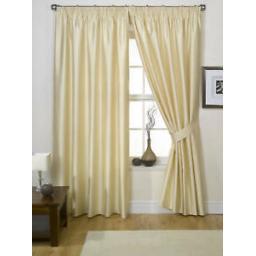 ONE-PAIR-LINED-FAUX-SILK-PENCIL-PLEAT-CURTAINS-CHAMPAGNE-90-034-x-90-034