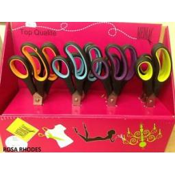 MEDIAC-TOP-QUALITY-STAINLESS-STEEL-SCISSORS-VARIOUS-COLOURS