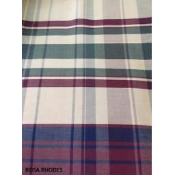 REMNANT-FABRIC-BEIGE-BURGUNDY-GREEN-CHECKED