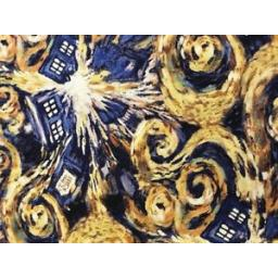 SPRINGS-CREATIVE-PATCHWORK-CRAFT-FABRIC-DR-WHO-POLICE-BOX-51564