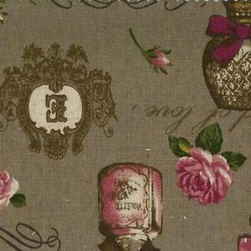 NUTEX VINTAGE COLLAGE PATCHWORK FABRIC - 64650 - BROWN
