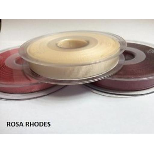 2MTRS - SATIN SHEEN RIBBED RIBBON - VARIOUS COLOURS