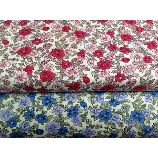 NUTEX PATCHWORK FABRIC - FLORAL PRINTS - 63930 - (2)