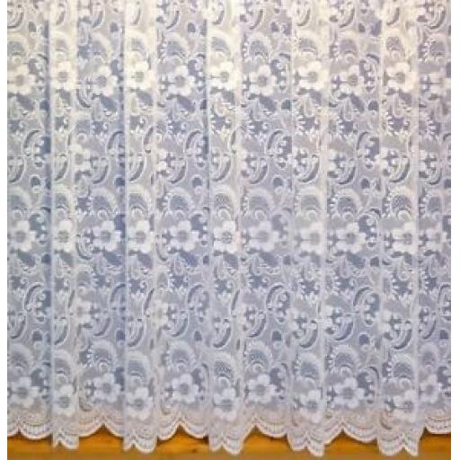 3932 - WHITE BRISE BISE (LACE NET CURTAIN)