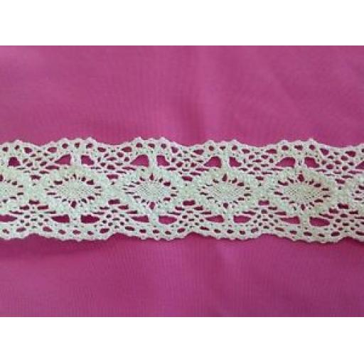 40mm - COTTON LACE CROCHET TRIMMING - VINTAGE, CRAFTS, SEWING