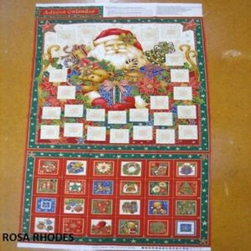 NUTEX NOVELTY ADVENT SANTA CHRISTMAS PANEL - 86440