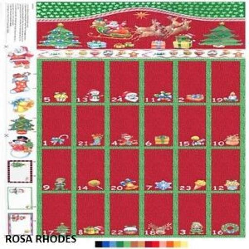 NUTEX NOVELTY ADVENT CHRISTMAS PANEL - 88760