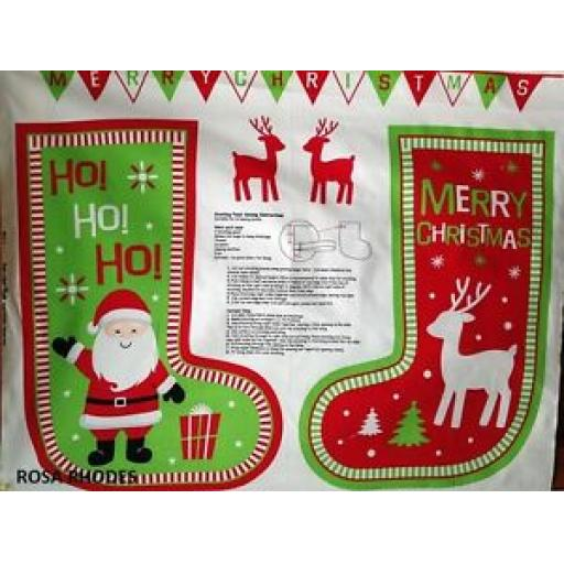 NUTEX ROCKIN CHRISTMAS STOCKING PANEL - 37320