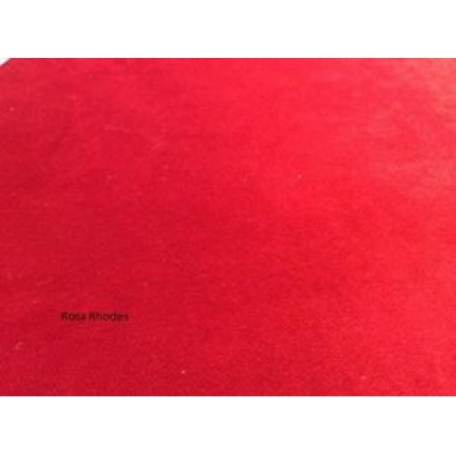 FLAME (RED) VELVET CURTAIN FABRIC