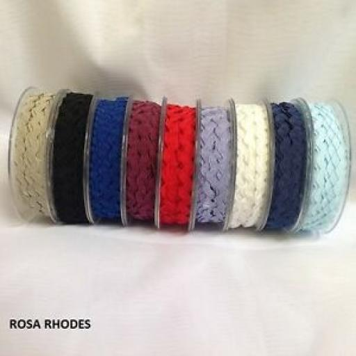 2m x RIC RAC RIBBON 9mm - VARIOUS COLOURS