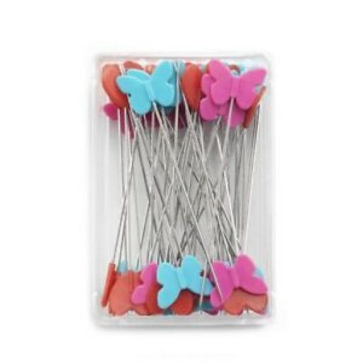 Prym Love Plastic-headed pins, 50 x 0.60 mm, assorted