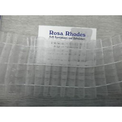 "3"" (75mm) CLEAR PENCIL PLEAT HEADER TAPE"