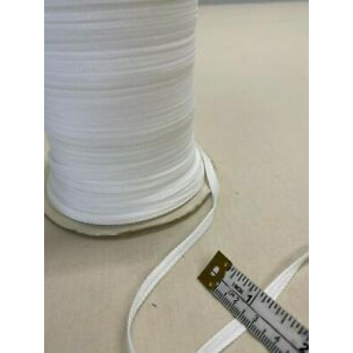 3 metres x 6mm WHITE COTTON TAPE
