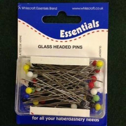ESSENTIALS GLASS HEADED PINS