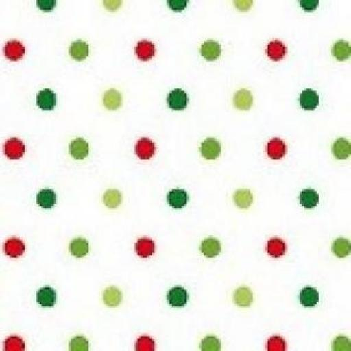 1 X FAT QUARTER NUTEX PATCHWORK FABRIC - CHRISTMAS HAPPY OWL -SPOT - MULTI - 36730 -115