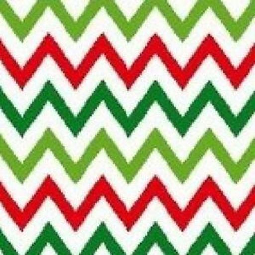 1 X FAT QUARTER NUTEX PATCHWORK FABRIC - CHRISTMAS HAPPY OWL - MULTI - ZIGZAG - 36730 -114