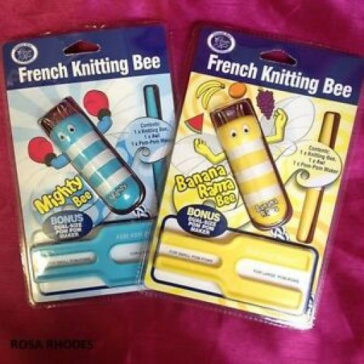 FRENCH KNITTING BEE WITH POM POM MAKER