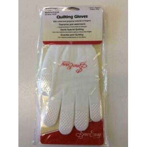SEW EASY QUILTING GLOVES - MEDIUM - LARGE
