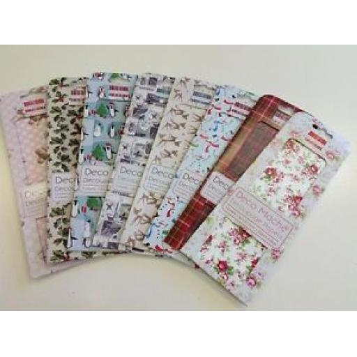 FIRST EDITION PAPER - DECO MACHE DECOUPAGE PAPERS - VARIOUS DESIGNS