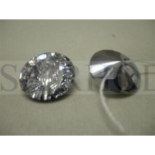 4 x 12mm SWAROVSKI CRYSTAL UPHOLSTERY BUTTON
