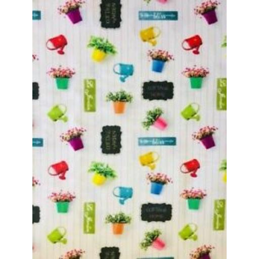 BALTIMORA ITALIAN PATCHWORK FABRIC - GARDEN