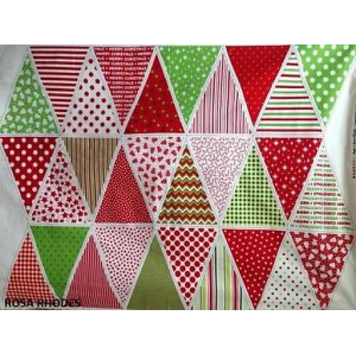 NUTEX CHRISTMAS BASIC BUNTING PANEL - 37340