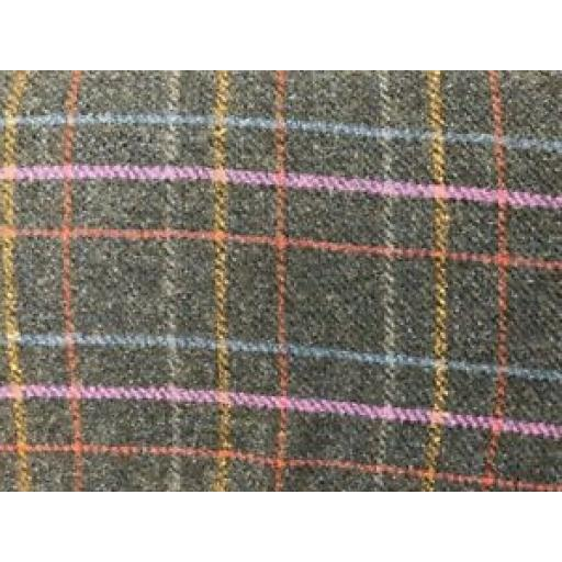 PETER HORTON DRESS FABRIC - TARTAN WOOL FABRIC - MULTI