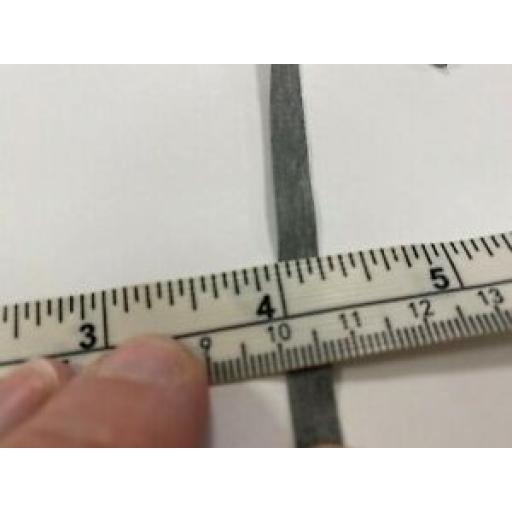 5m x 5mm DARK GREY RUBBER ELASTIC