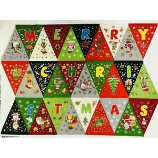 NUTEX CHRISTMAS BUNTING PANEL - 80180