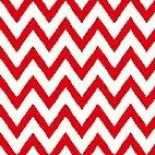 1 X FAT QUARTER NUTEX PATCHWORK FABRIC - CHRISTMAS HAPPY OWL - RED ZIGZAG - 36730 -112