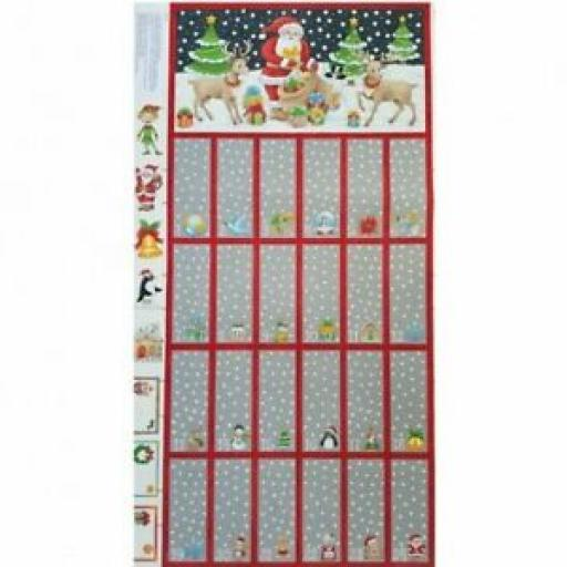 NUTEX NOVELTY ADVENT CHRISTMAS CALENDAR PANEL - 80130