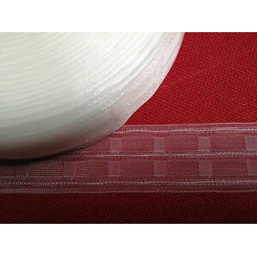 "50mm (2"") TRANSPARENT/CRYSTAL PENCIL PLEAT HEADER TAPE"