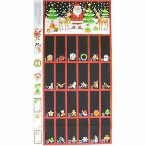 NUTEX NOVELTY ADVENT CHRISTMAS CALENDAR PANEL - 89670