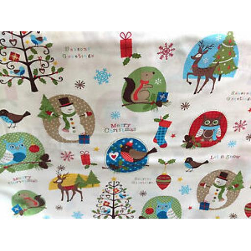 WILLIAMS CHRISTMAS PATCHWORK FABRIC - WINTER HOLIDAYS - SOLD PER METRE 04750