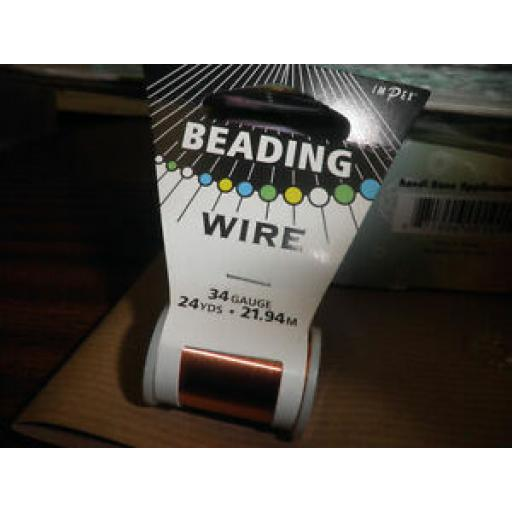 1 X IMPEX BEADING WIRE 34 GAUGE - COPPER