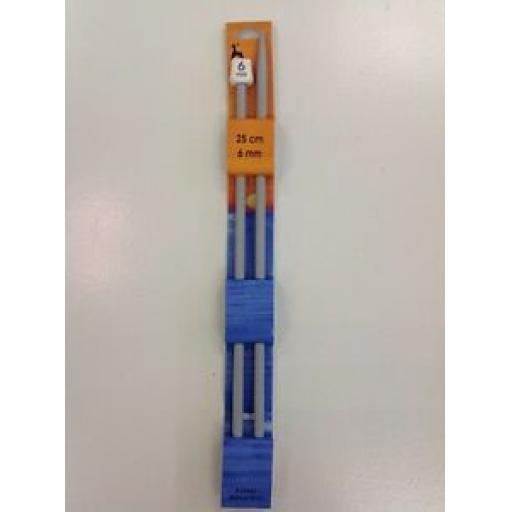 PONY KNITTING NEEDLE - 25cm (6mm)