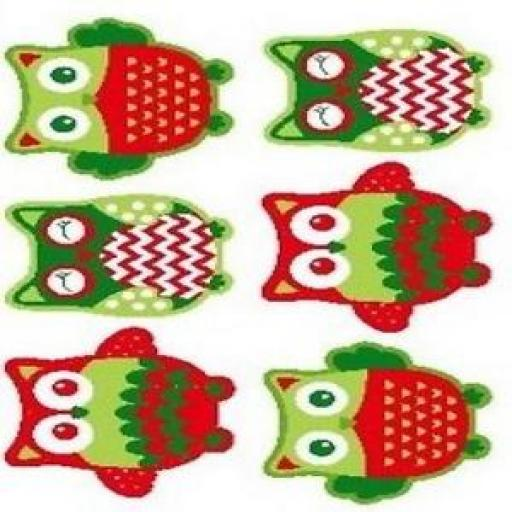 NUTEX CHRISTMAS HAPPY OWL TOY PANEL - 36730 -104
