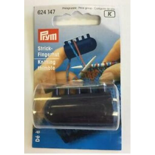 PRYM KNITTING THIMBLE WITH FOUR YARN GUIDES