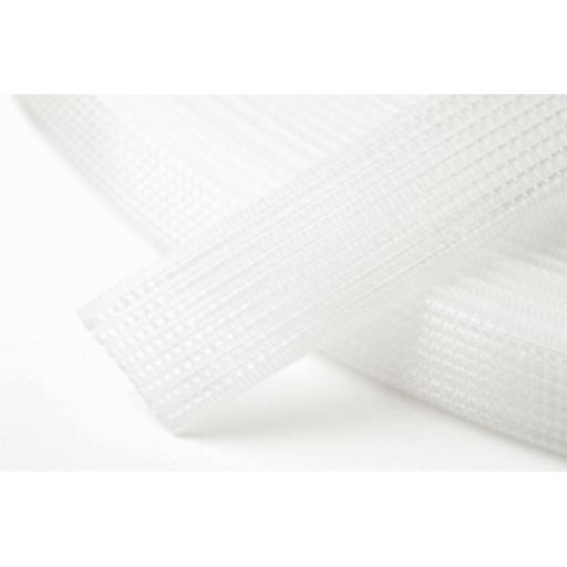 White Uncovered Polyester Boning - 12mm