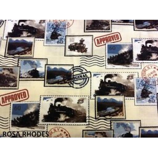 NUTEX PATCHWORK FABRIC - ALL ABOARD - 36980 - 101