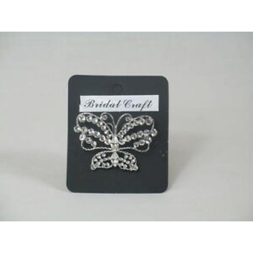 55BT BROOCH BUTTERFLY - SILVER
