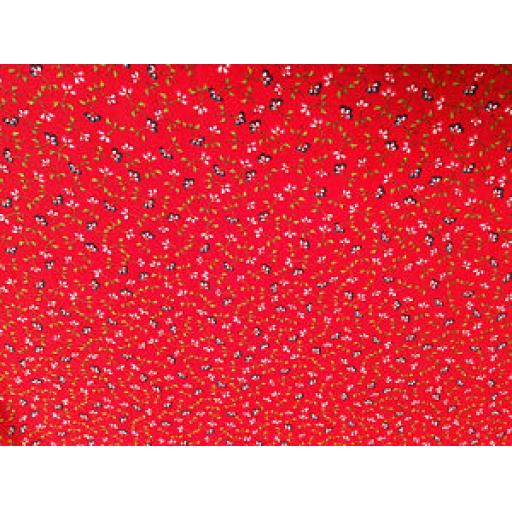 WILLIAMS CHRISTMAS PATCHWORK FABRIC - VINTAGE- SOLD PER METRE