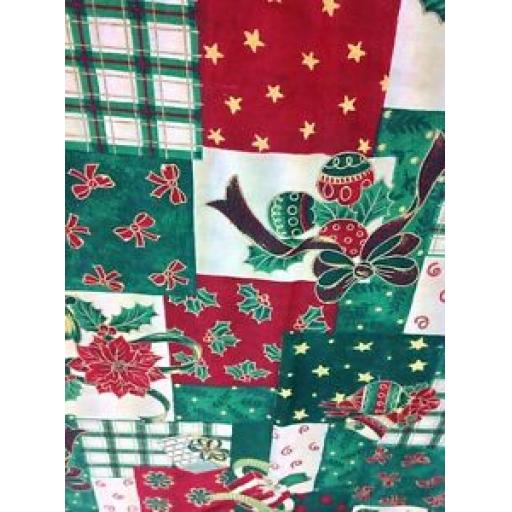 CHRISTMAS FABRIC - FESTIVAL 100% COTTON - PRESTIGIOUS