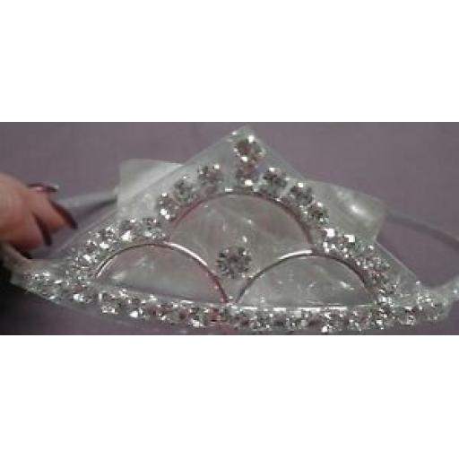 Clear Diamonte Tiara