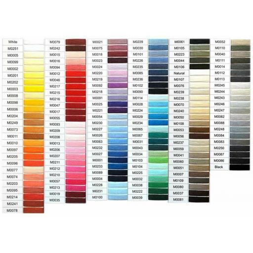 1 x 1000y COATS MOON - OVERLOCKER (120) Spun Polyester Threads ( Colour Chart No 6)