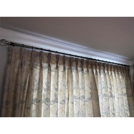 100% LINEN INTERLINED PINCH PLEAT CURTAINS (FABRIC BY VOYAGE MAISON)
